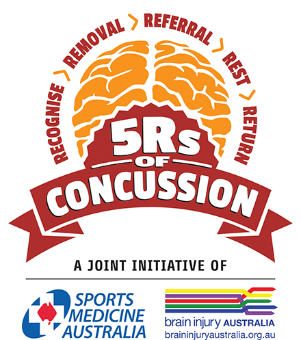 Logo for 5 Rs of Concussion