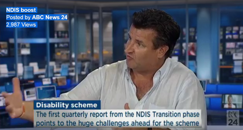 Nick Rushworth, Executive Officer of Brain Injury Australia, says outreach is critical to the success of the National Disability Insurance Scheme (NDIS).
