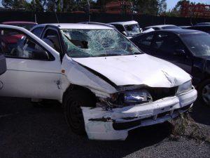 Erin's car following her crash