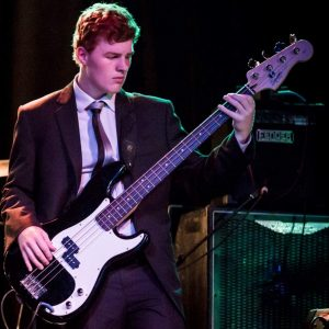 Lachie on Bass Guitar in 'About Blue' Jazz Band playing in Semi Final of the Espy's Showdown Band Festival, 2015