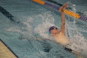 Lachie swimming in Whitefriars College Interhouse Swim Carnival 2013