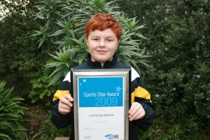 Lachie with Leader Newspaper Sports Star Award 2009